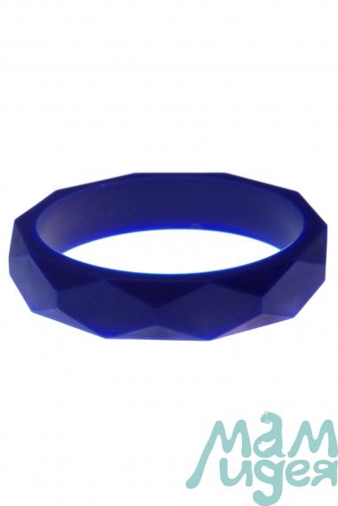 Молочный браслет из пищевого силикона, синий