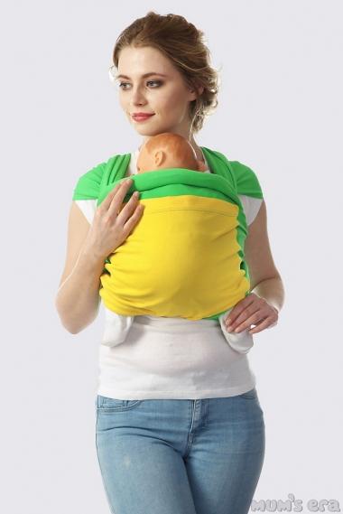 Слинг-шарф трикотажный Fusion, яблочно-желтый