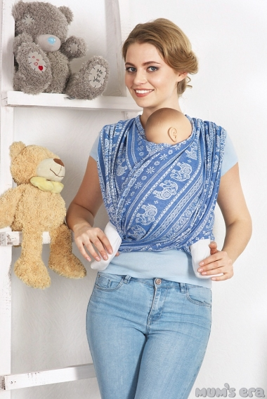 Слинг-шарф Слоны, синий