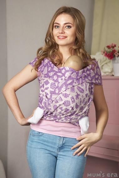 Слинг-шарф Sweet, фиолетовый