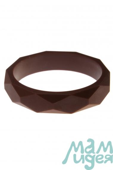 Молочный браслет из пищевого силикона, коричневый