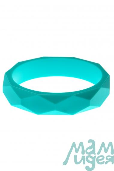Молочный браслет из пищевого силикона, бирюзовый
