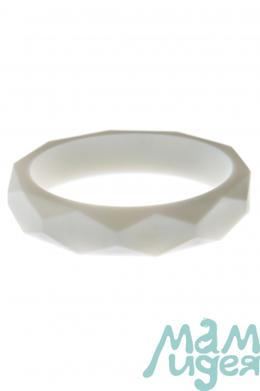 Молочный браслет из пищевого силикона, белый