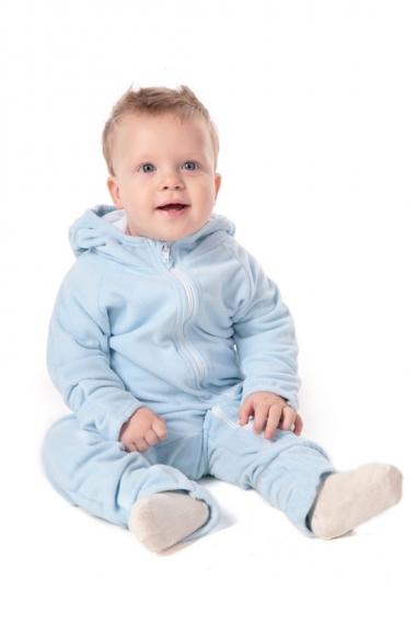 Флисовая поддева (флисовый комбинезон), светло-голубой
