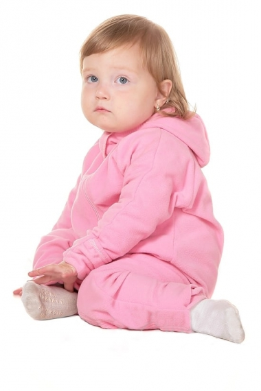 Флисовая поддева (флисовый комбинезон), розовый