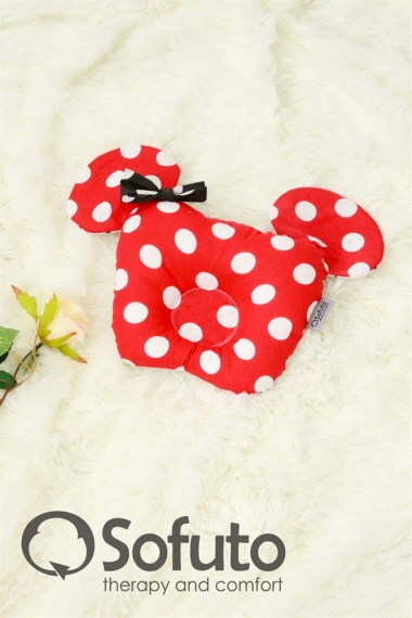 Гнездышко для новорожденных Babynest Minnie red dots