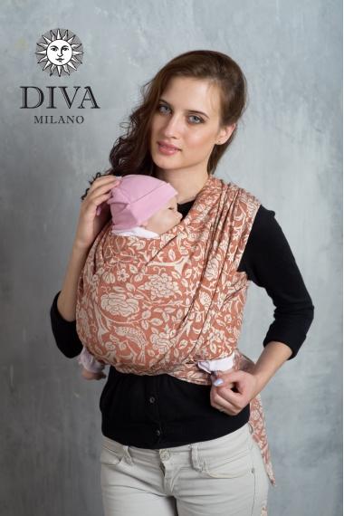 Слинг-шарф Diva Milano cо льном и коноплей, Rose Spezia