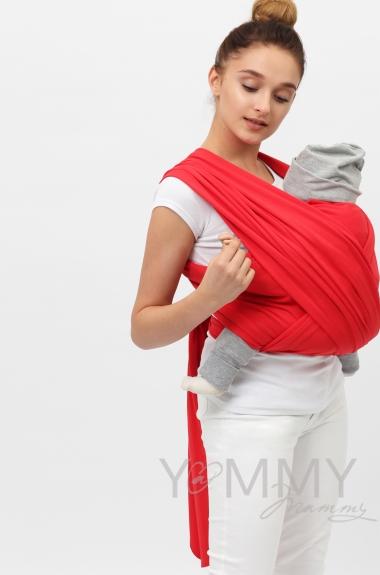 """Слинг-шарф трикотажный, цвет """"красный"""""""