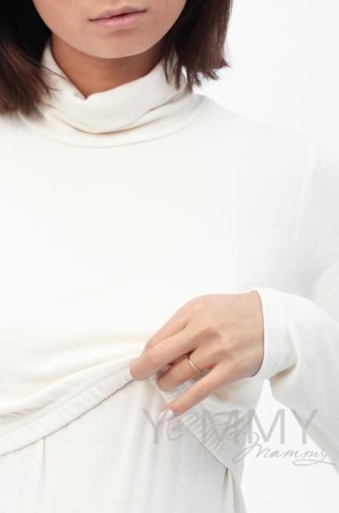 Водолазка для беременных и кормящих, цвет экрю